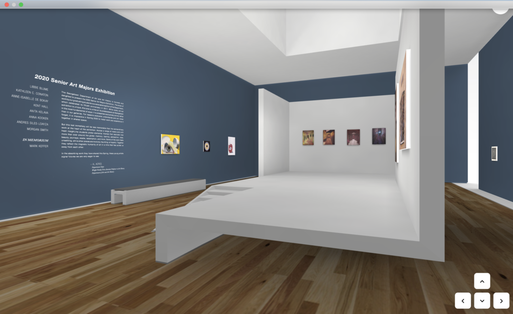 Senior art majors virtual exhibition