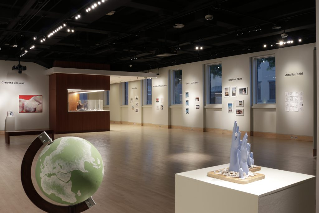 2021 student exhibition in gallery